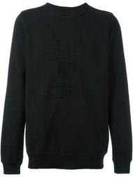 embroidered long sleeve sweatshirt Rick Owens DRKSHDW
