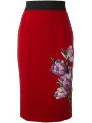 юбка с аппликацией  Dolce & Gabbana