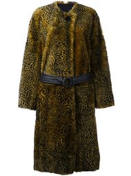animal print shearling coat  Petar Petrov