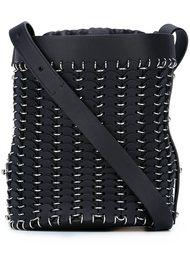 сумка-ведро с отделкой цепочками Paco Rabanne