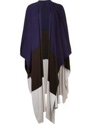 colour block knit cape  Victor Alfaro