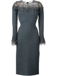 lace panel long sleeve shift dress Ermanno Scervino
