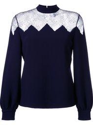 блузка с прозрачной кружевной панелью Huishan Zhang