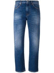укороченные джинсы с меховой отделкой MSGM