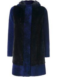 пальто с контрастными панелями Blancha