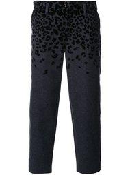 animal print cropped tapered trousers Kolor