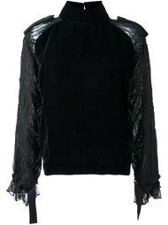 блузка с драпированными рукавами Sacai