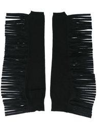 перчатки без пальцев с бахромой Mm6 Maison Margiela