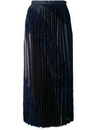 textured pleated skirt Kolor