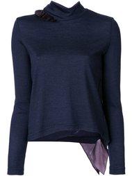ruffle detail fine knit jumper Kolor