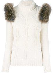 вязаный свитер с высокой горловиной Forte Couture