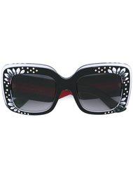 солнцезащитные очки квадратной формы с кристаллами Gucci Eyewear