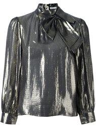блузка с бантом и эффектом металлик Alice+Olivia