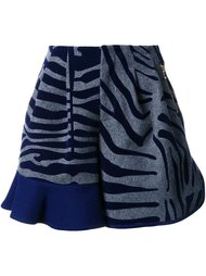animal print ruffle shorts Kolor