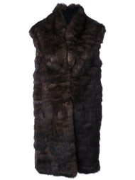 sleeveless sable fur coat Liska
