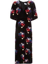 kimono style floral print dress Tanya Taylor