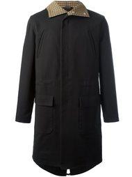 пальто на молнии с капюшоном Raf Simons