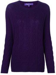 cable knit jumper Ralph Lauren Purple