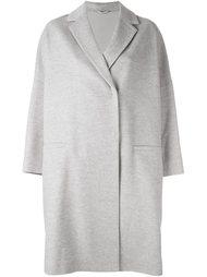 объемное однобортное пальто Brunello Cucinelli