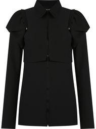 removable shoulder puffs jacket Gloria Coelho