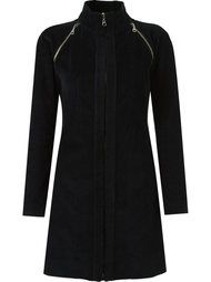 panel ribbed coat Gloria Coelho