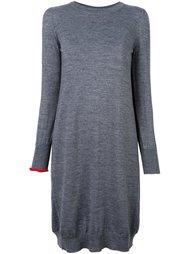 contrast sleeve knitted dress Erika Cavallini