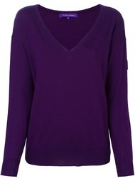 v neck jumper Ralph Lauren Purple