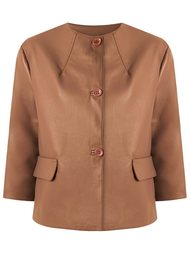 leather jacket Gloria Coelho