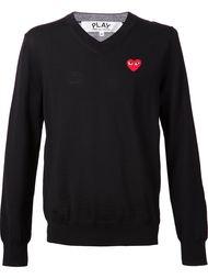 свитер с V-образным вырезом 'Play' Comme Des Garçons Play