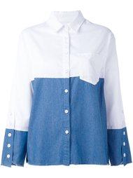 двухцветная свободная рубашка Steve J & Yoni P