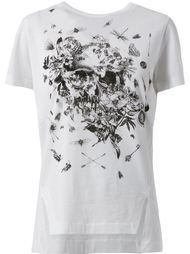 футболка с изображением черепа из насекомых  Alexander McQueen