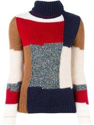 вязаный лоскутный свитер  Vanessa Bruno Athé