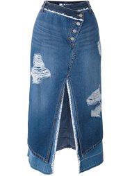 асимметричная джинсовая юбка Steve J & Yoni P