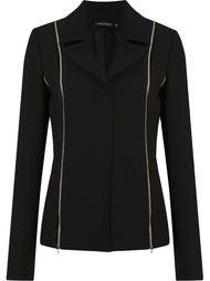 zip detail blazer Gloria Coelho