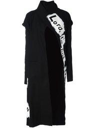 slogan print coat  Yohji Yamamoto