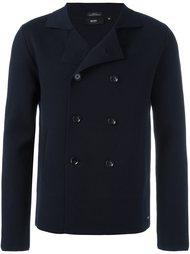 укороченное двубортное пальто Boss Hugo Boss