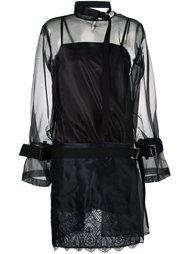 прозрачное платье с панельным дизайном Sacai