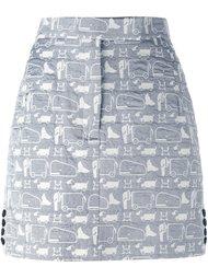 юбка с завышенной талией Thom Browne