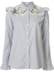 embroidered ruffle blouse  Suno