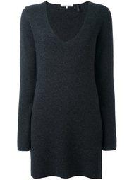 удлиненный свитер с V-образным вырезом Helmut Lang