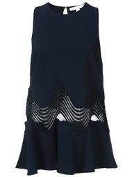 flared cut-off detailing blouse Jonathan Simkhai