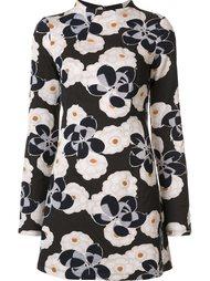 floral jacquard mini dress  Suno