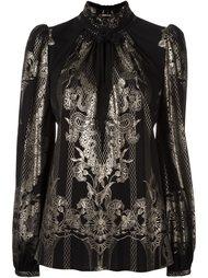 блузка с принтом металлик Roberto Cavalli