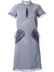 платье с оборками  Christopher Kane