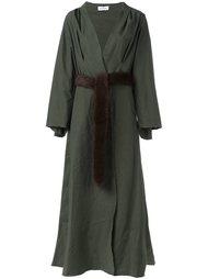 длинное пальто-кимоно Attico