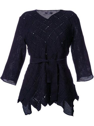 блузка 'Black Woven Panel' Assin