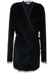 бархатное платье с запахом Attico