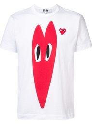 heart print T-shirt Comme Des Garçons Play