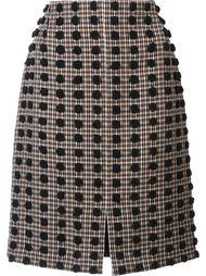 plaid pattern straight skirt Sonia Rykiel