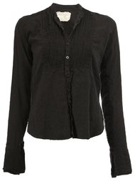 pleated bib blouse Greg Lauren